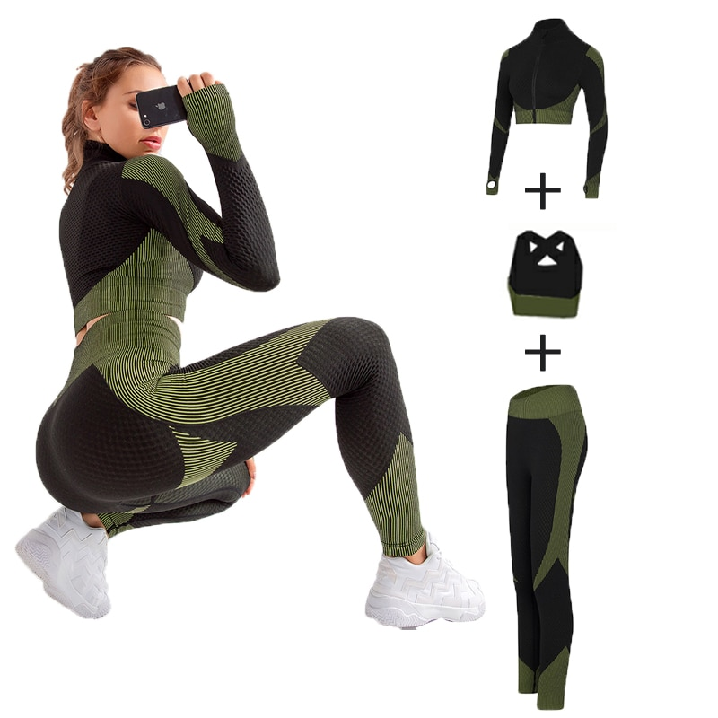 Women's Elastic Workout Clothing Set
