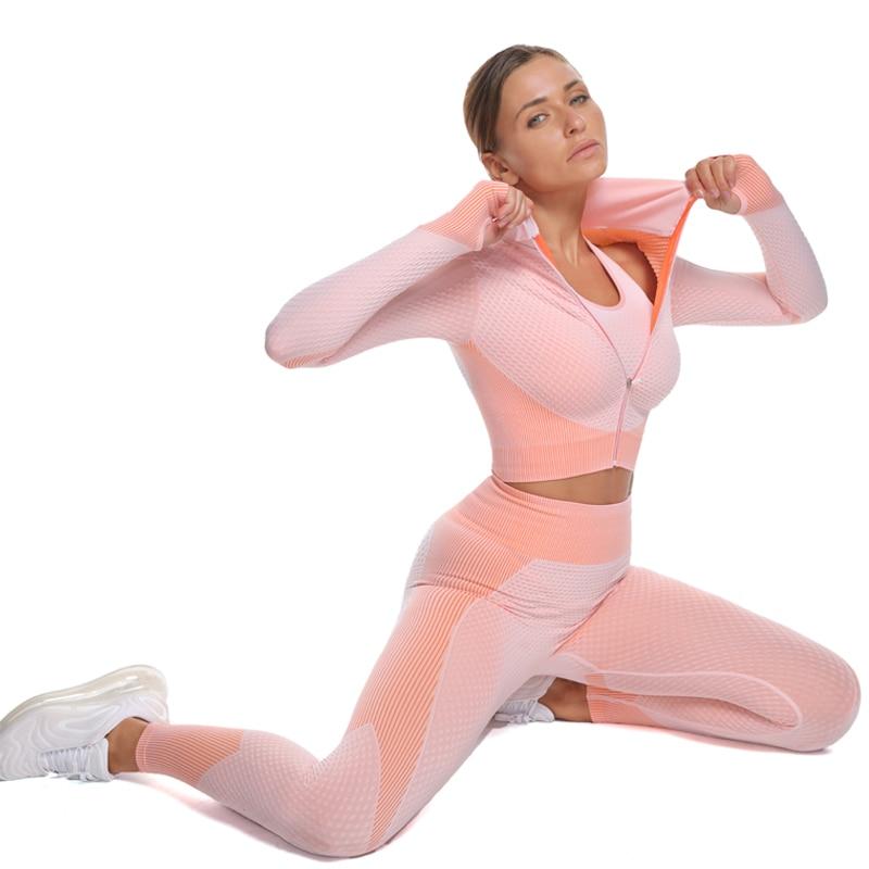 Women's Elastic Workout Clothing Set