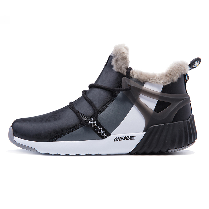 Fashion Winter Leather Men's Running Shoes